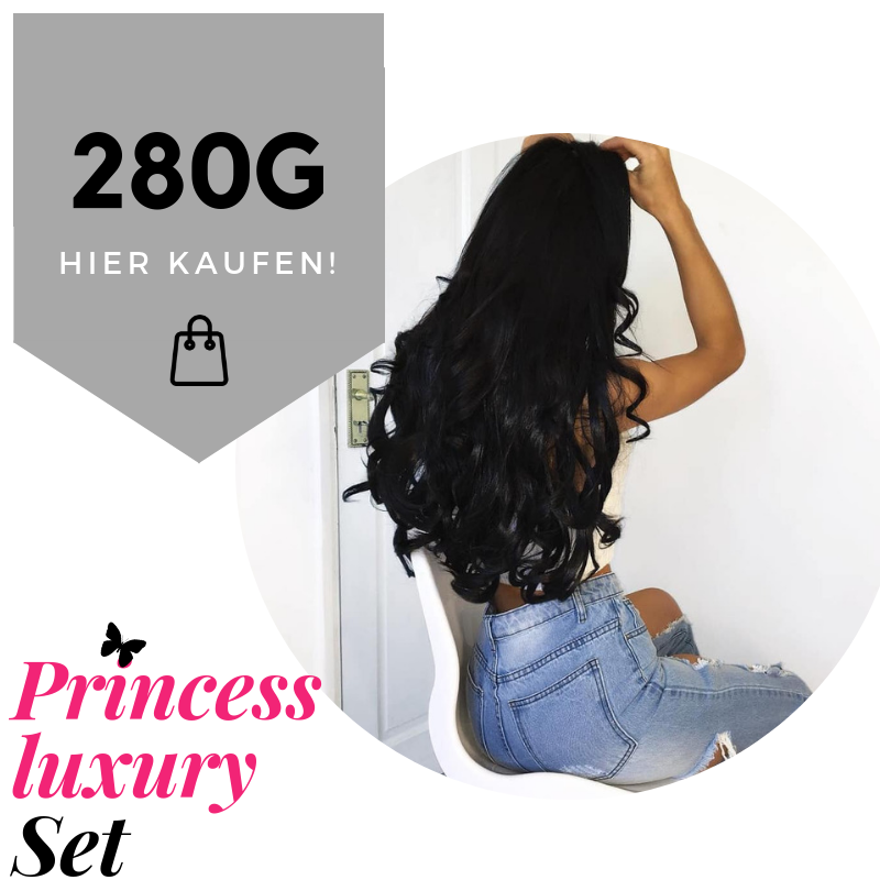 60cm /280g Clip in Extensions Princess Luxury Set