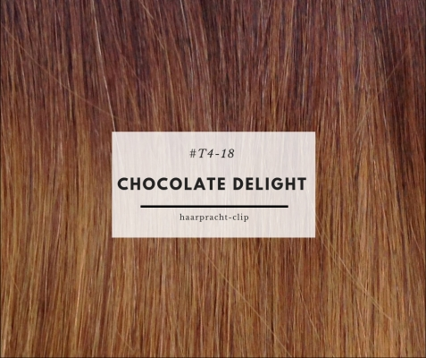 Clip-in Extensions Echthaar Set Ombre Chocolate Delight 160g #T4-18