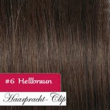 200g Clip in Extensions Human Hair 8 pices in a set Medim brown