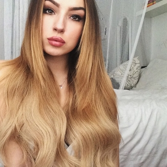 Clip in Extensions Echthaar Set Ombre Honey Brown #T8-14 160g