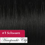 160g Clip in Extensions Human Hair 8 pices in a set - black #1