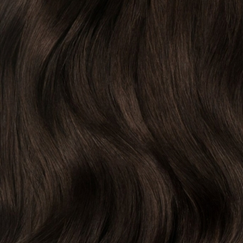 200g Clip in Extensions Human Hair 8 pices in a set Dark brown #