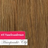 150g Clip in Extensions Human Hair 8 pices in a set Medim brown