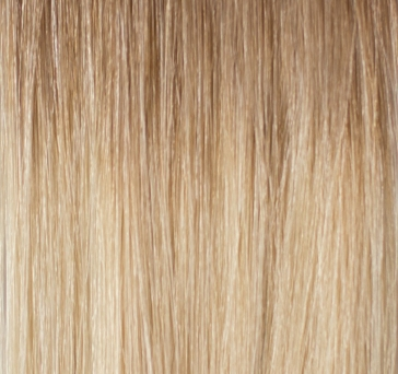 Clip in Extensions Echthaar Set Ombre Lightbrown-Blond #8/613 160g