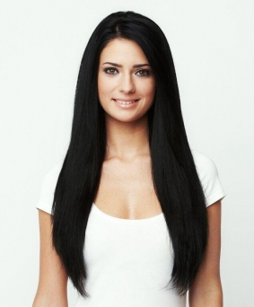200g Clip in Extensions Human Hair 8 pices in a set - black #1